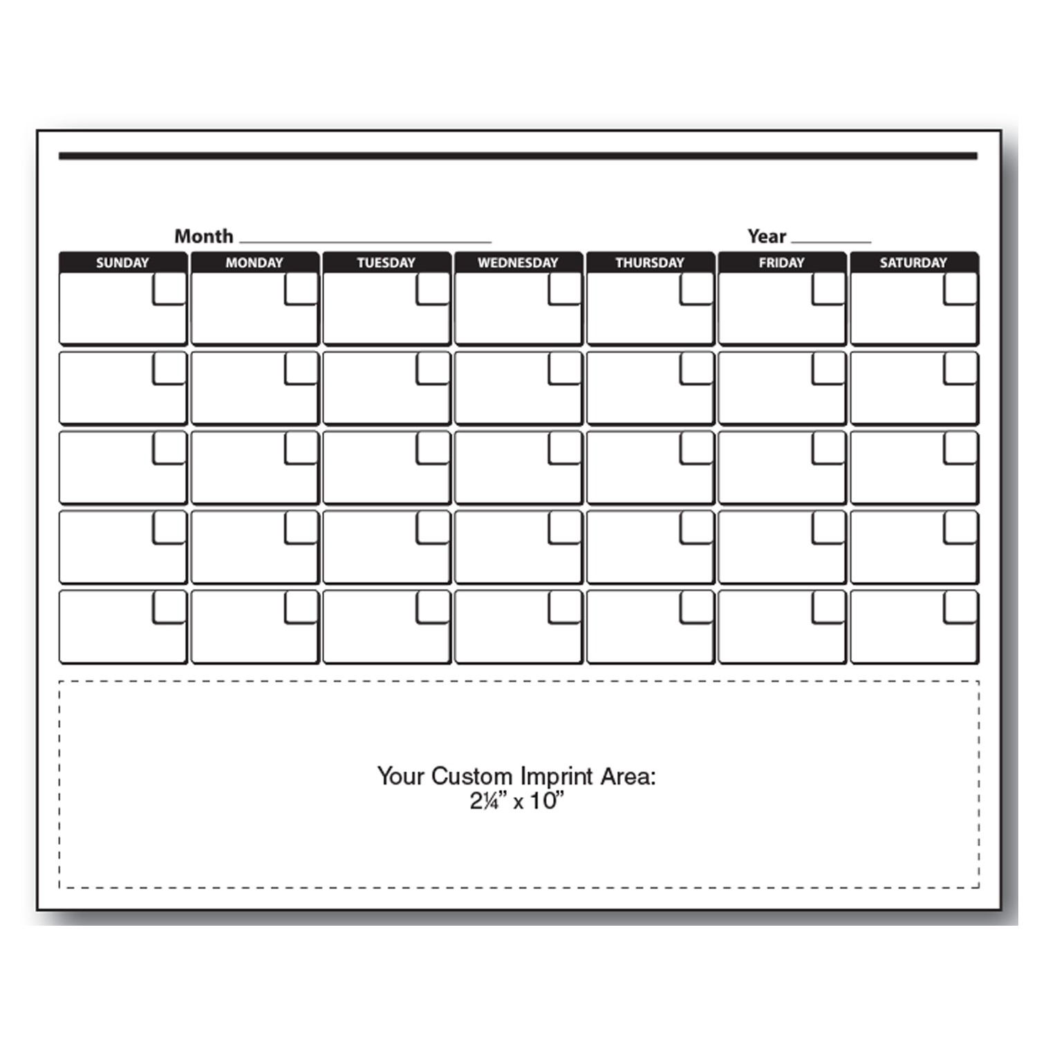 Item: Magnet-21407 - Monthly  XXL Magnetic Calendar