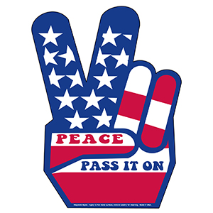 Item: Magnet-11030 - Peace Sign Magnetic Car Signs