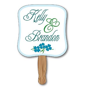 Item: T13018 - Rectangle Hand Held Paper Fans