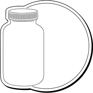 CIRCLEBOTTLE1 - Indoor NoteKeeper&#0153 Magnet
