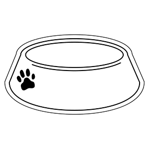 DOGBOWL1 - Indoor NoteKeeper&#0153 Magnet