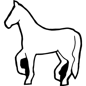 HORSE1 - Indoor NoteKeeper&#0153 Magnet