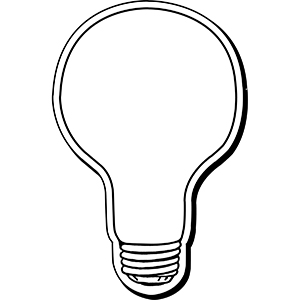 LIGHTBULB4 - Indoor NoteKeeper&#0153 Magnet