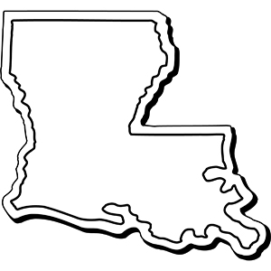 LOUISIANA1 - Indoor NoteKeeper&#0153 Magnet