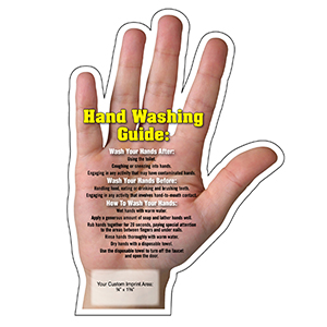 MG20071 - Hand Washing Tips Mega-Mag&#0153 Shaped Magnet