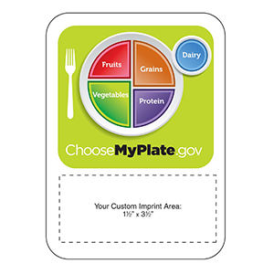 MG20077 - Choose My Plate Mega-Mag&#0153 Shaped Magnet
