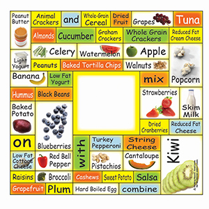 Item: Magnet-22092 - Healthy Snacks Words Plus&#0153 Rectangle