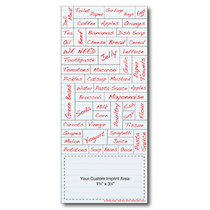 Item: Magnet-22095 - Shopping List Words Plus&#0153 Business Card