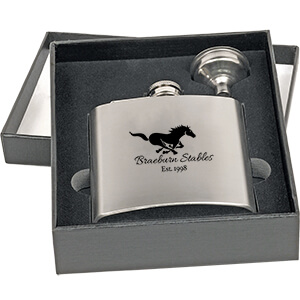 2-Piece Metal Flask Set - CLOSEOUT
