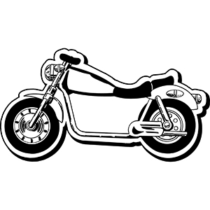 MOTORCYCLE1 - Indoor NoteKeeper&#0153 Magnet