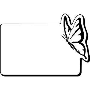 Item: RectBtrfly2 -  Indoor Notekeeper&#0153 Magnet