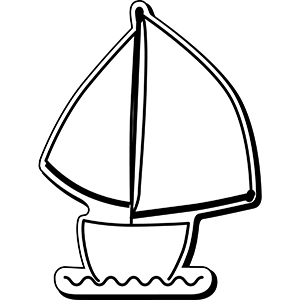 SAILBOAT1 - Indoor NoteKeeper&#0153 Magnet