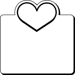 Item: SquareHeart1-  Indoor Notekeeper&#0153 Magnet